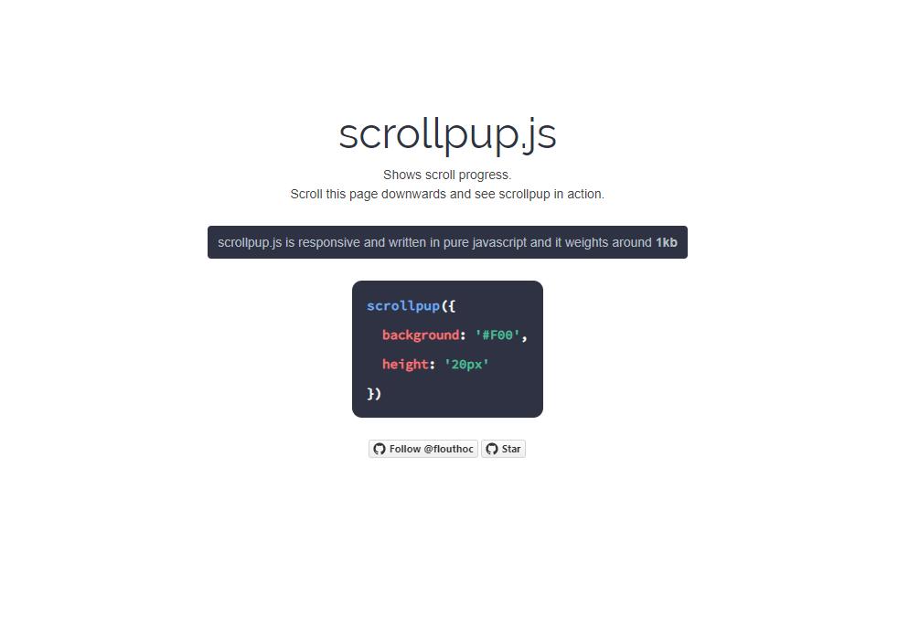 scrollpupjsのサンプルページ
